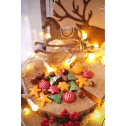 "Пластиковая форма ""Новогодние мотивы"" для шоколада, 155х75х9 мм"