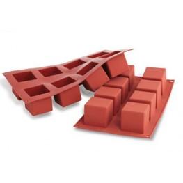 Форма силиконовая для пирожных «Cube» SF0104. 50х50х50мм, 8 ячеек по 125мл, Silikomart, Италия, 1шт.