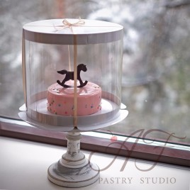 Коробка-тубус для торта, белая (круглая, цилиндр), 250х284 см