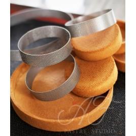Кольцо перфорированное из нерж. стали, 8x2 см