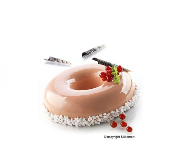 """Форма силиконовая для изготовления начинки торта в форме Savaren (""""Бублик""""), 160х40 мм"""