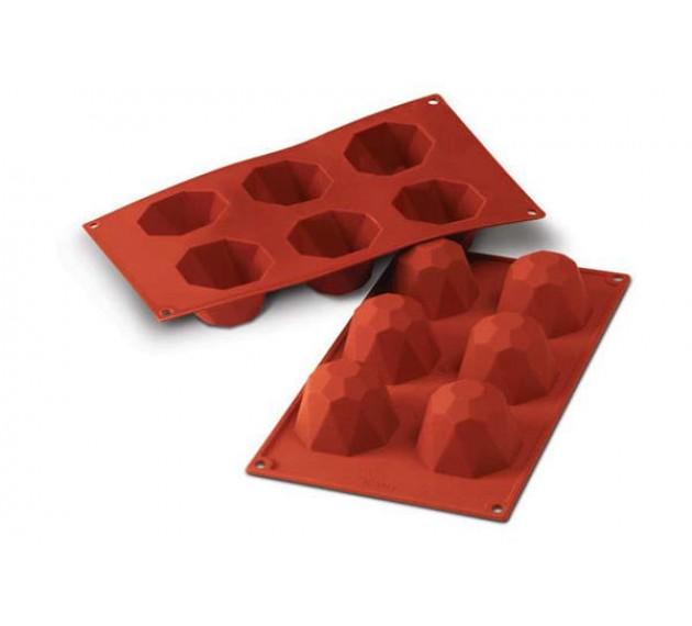 Форма силиконовая для пирожных «Diamond», 68х45 мм