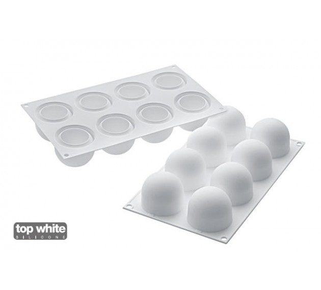 Силиконовая форма для муссовых пирожных «Трюфель» (Шар), 62х52 мм