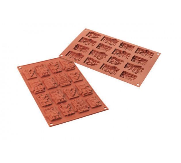 Форма силиконовая для шоколада и печенья «Новогодние сюжеты», 20х30 см