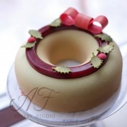 Форма силиконовая для торта Savaren (SAV18060). Внешний диаметр 180мм, диаметр отверстия 60 мм, h 50 мм, Silikomart, Италия, 1 шт.
