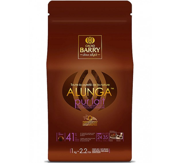 Шоколад молочный Alunga 41,3%