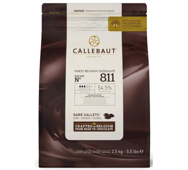 Шоколад темный 54,5%, в каллетах