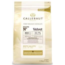 Шоколад белый 33,1% Velvet Callebaut, в каллетах, 500г