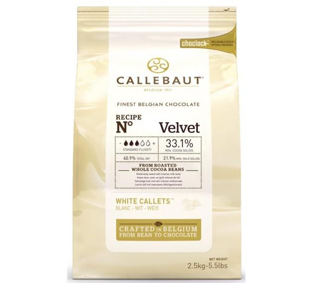 Шоколад белый 33,1% Velvet, в каллетах