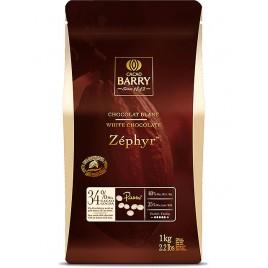Шоколад белый 34% Zephyr Cacao Barry, в каллетах, 500г
