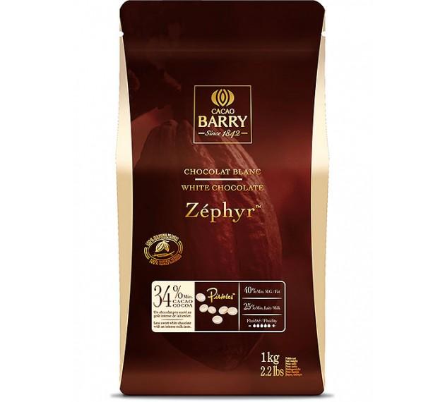 Шоколад белый 34% Zephyr, в каллетах