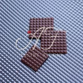 """Текстурный лист для создания рельефного рисунка на шоколаде, рисунок """"Клетка"""", 235х385 мм"""