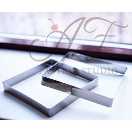 Квадрат из нерж. стали, 14х14x2,5 см