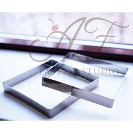 Квадрат из нерж. стали, 14х14x6 см