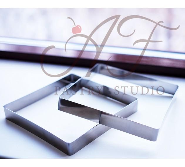 Квадрат из нерж. стали, 16х16x2,5 см