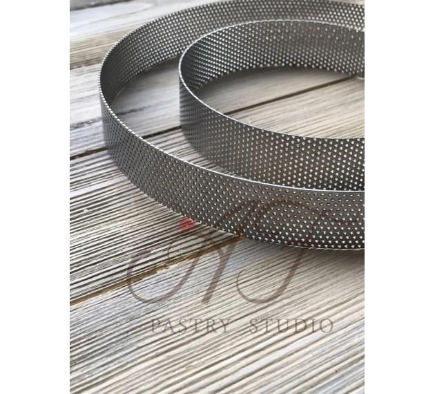 Набор перфорированных колец из пищевой нержавеющей стали, диаметром 8 см, высотой 2 см, 8 штук.