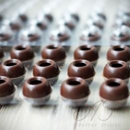 Капсулы из темного шоколада для трюфелей, 63 шт.