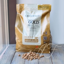 Шоколад карамелизованный белый 30,4% Gold Callebaut, в каллетах, 500г