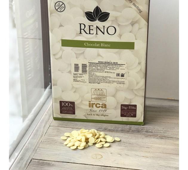 Шоколад белый Reno 31,5%, в каллетах, 500г