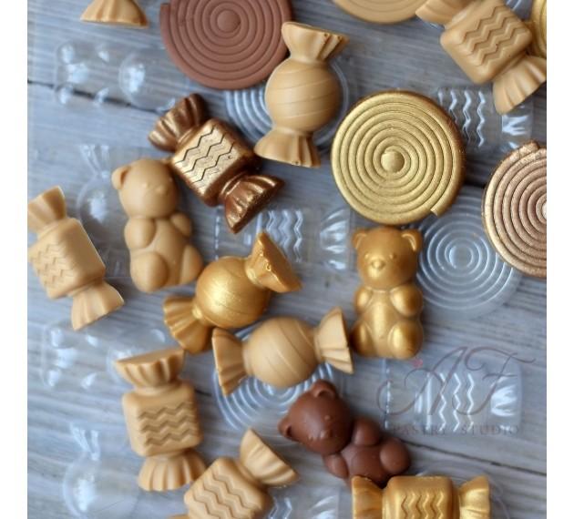 """Пластиковая форма """"Gourmandise"""" для шоколада, 155х75х9 мм Valrhona, Франция"""