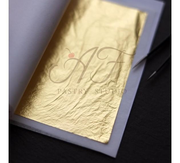 Пищевое золото листовое,  90х90 мм