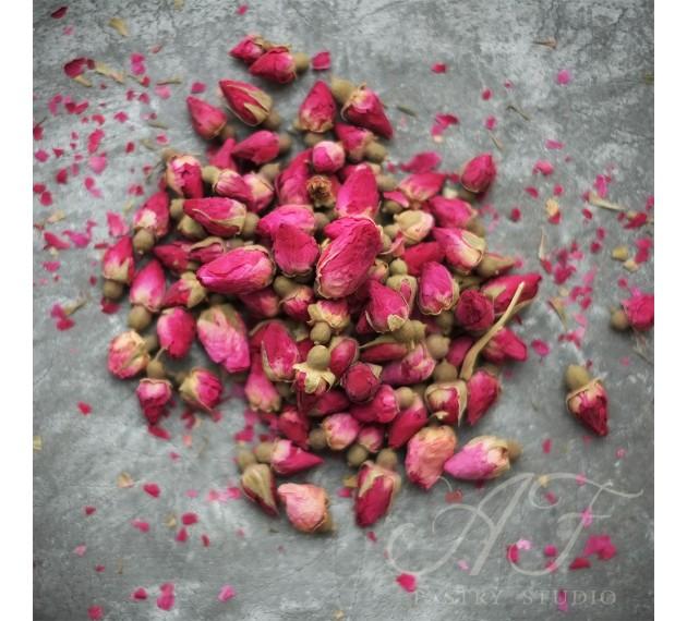 Бутоны роз сушеные (красные)