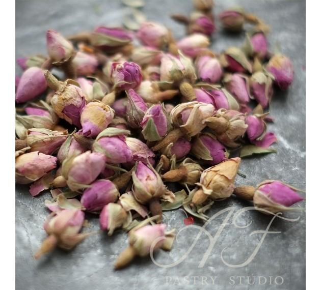 Бутоны роз сушеные (розовые)