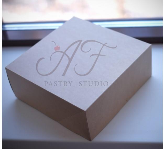 Коробка крафтовая 25,5х25,5х10,5 см