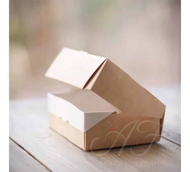 Коробка крафтовая  с окном, 10x8x3,5 см, 10 шт.