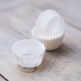 Капсулы для конфет однослойные, белые, 30х8 мм