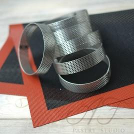 Набор перфорированных колец из нерж. стали, 8 штук 8x2 см