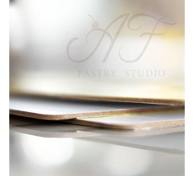 Подложка для торта усиленная, ламинация золото/жемчуг, 30 см х 40см х 3,2 мм
