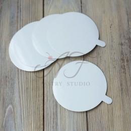 Подложка для пирожных, белая, 9см*0,6 мм, 10 шт.