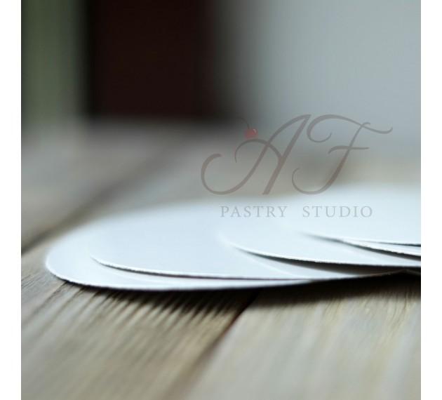 Подложка для пирожных, белая, 9 см х 0,6 мм