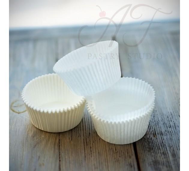 Капсулы для выпечки капкейков, белые, 47х30 мм
