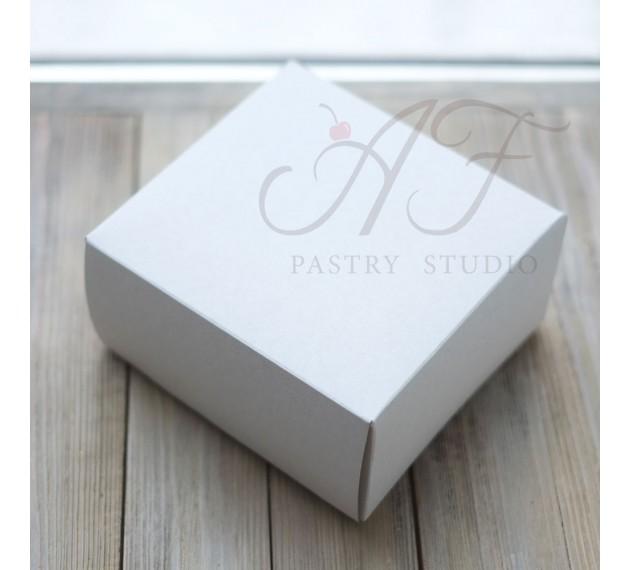 Коробка для капкейков, белая,16х16х8 см