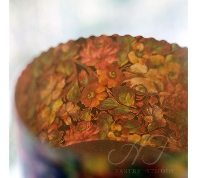 """Формы бумажные для кулича, """"Цветы"""", 135х95мм, 10 шт."""