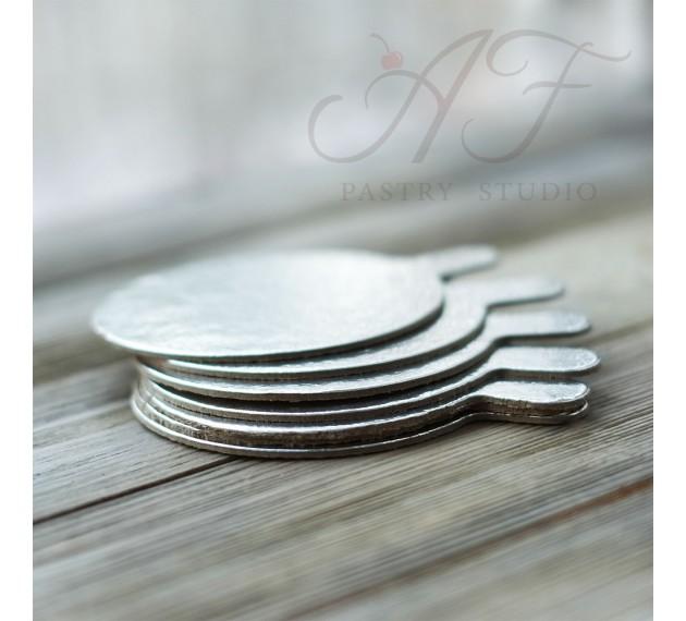 Подложка для пирожных, серебро, 8 см х 1,6 мм