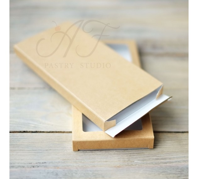 Коробка для шоколадной плитки, с окном, 16х8х1,7 см
