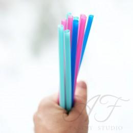 Трубочки коктейльные цветные, 0,5х21 см